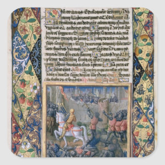 Rehoboam waging war against Jeroboam Square Sticker
