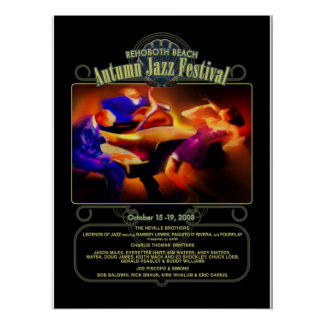 Rehoboth Beach Autumn Jazz Fest 2008 Poster