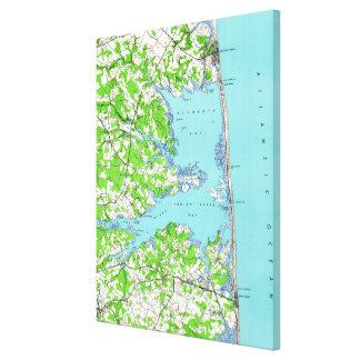 Rehoboth Beach & Bethany Beach Delaware Map (1938) Canvas Print