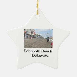 Rehoboth Beach Boardwalk Delaware Star Ornament