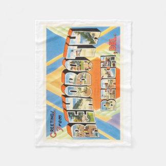 Rehoboth Beach Delaware DE Vintage Travel Postcard Fleece Blanket