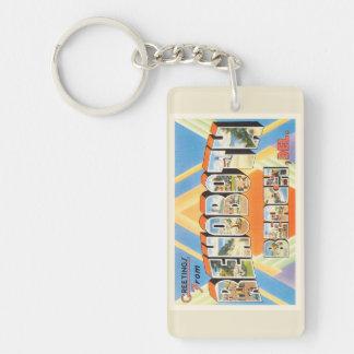 Rehoboth Beach Delaware DE Vintage Travel Postcard Keychain