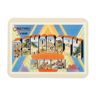Rehoboth Beach Delaware DE Vintage Travel Postcard Magnet
