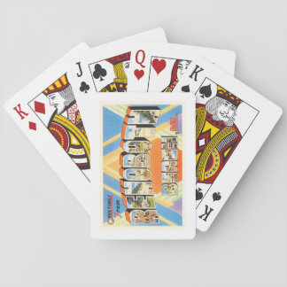 Rehoboth Beach Delaware DE Vintage Travel Postcard Playing Cards