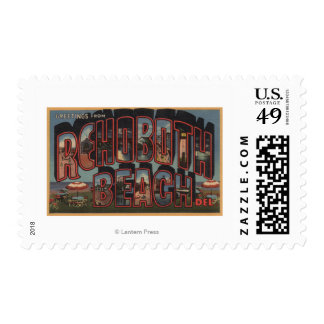 Rehoboth Beach, Delaware - Large Letter Scenes Postage