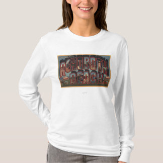 Rehoboth Beach, Delaware - Large Letter Scenes T-Shirt