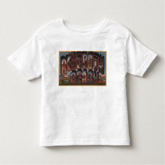 Rehoboth Beach, Delaware - Large Letter Scenes Toddler T-shirt