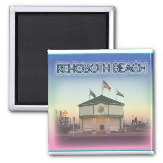 Rehoboth Beach Delaware - Rehoboth Ave Scene Magnet