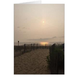 Rehoboth Beach Delaware Sunrise Atlantic Ocean Card