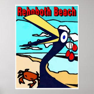 Rehoboth Beach, Funny Bird Poster