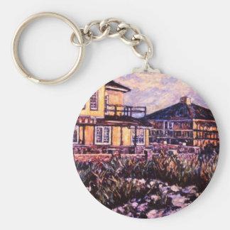 Rehoboth Beach Houses Keychain