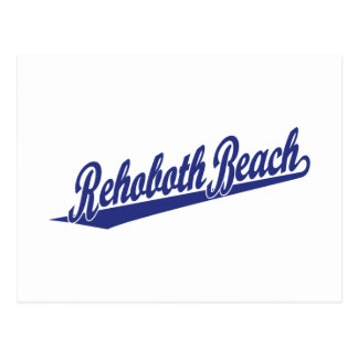 Rehoboth Beach in blue Postcard