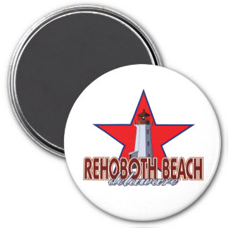 Rehoboth Beach Lighthouse 3 Inch Round Magnet