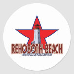 Rehoboth Beach Lighthouse Round Stickers
