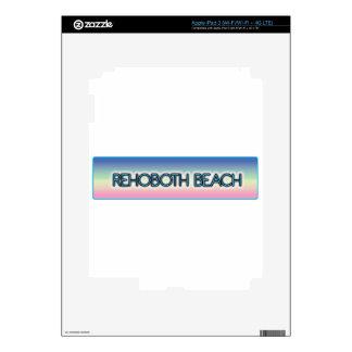 Rehoboth Beach Pastel Rainbow Style 1 Decal For iPad 3