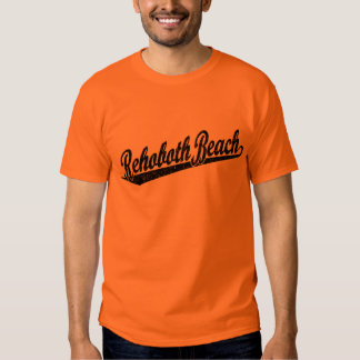Rehoboth Beach script logo in black distressed T Shirt