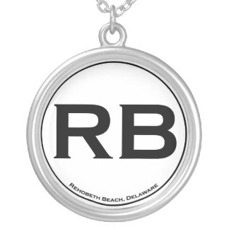 Rehoboth Beach Sterling Silver Round Pendant Necklace