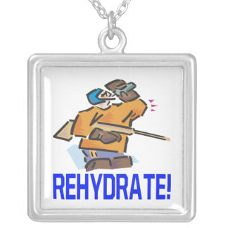 Rehydrate Square Pendant Necklace