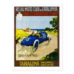 Reial Moto Club de Catalunya Retro Vintage Racing Postcard