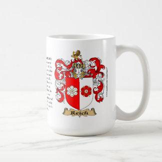 Reich, el origen, el significado y el escudo taza de café