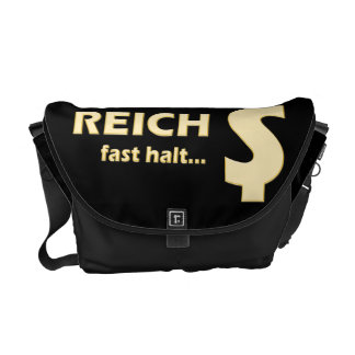 REICH fast halt DOLLAR  Gold Courier Bag