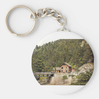 Reichenau, road house, Lower Austria, Austro-Hunga Keychain