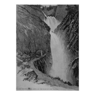 Reichenbach Falls - Sidney Paget Poster