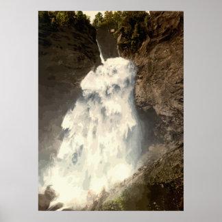 Reichenbach falls Switzerland Poster