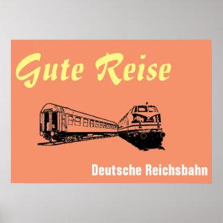 Reichsbahn alemán póster