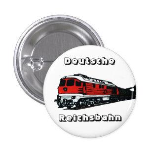 Reichsbahn diseño pin redondo de 1 pulgada