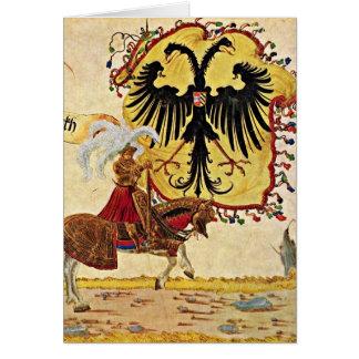 Reichsbanner y espada de Albrecht Altdorfer Tarjetón