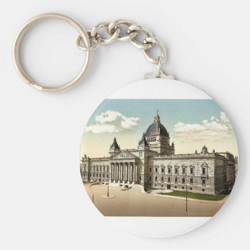 Reichsgericht, Leipsig (i.e., Leipzig), Saxony, Ge Basic Round Button Keychain