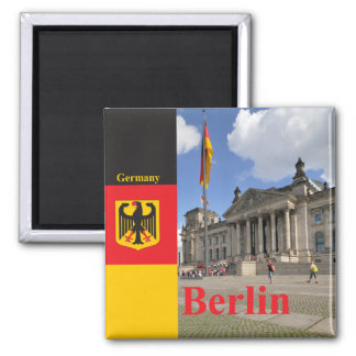 Reichstag building. Berlin, Germany 2 Inch Square Magnet