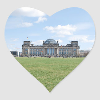 Reichstag building - Berlin, Germany Heart Sticker