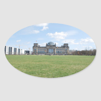 Reichstag building - Berlin, Germany Oval Sticker
