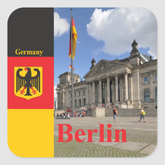 Reichstag building. Berlin, Germany Square Stickers