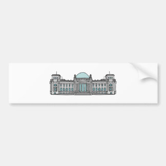 Reichstag building in Berlin Bumper Sticker