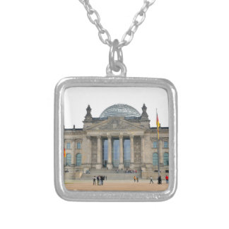 Reichstag building in Berlin, Germany Silver Plated Necklace