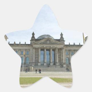 Reichstag building in Berlin Star Sticker