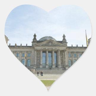 Reichstag building in Berlin Heart Sticker