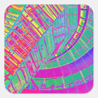 Reichstag / Bundestag,Berlin, Multi-Coloured(r41sp Square Sticker