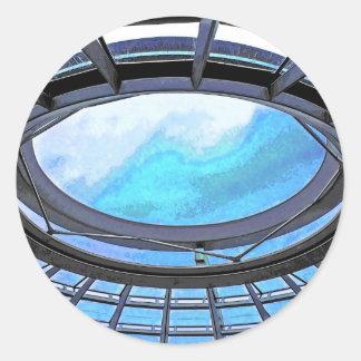 Reichstag / Bundestag, Dome Top, Berlin(r28bluept) Classic Round Sticker
