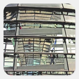 Reichstag / Bundestag,Exterior to In,Berlin(r5dk) Square Sticker