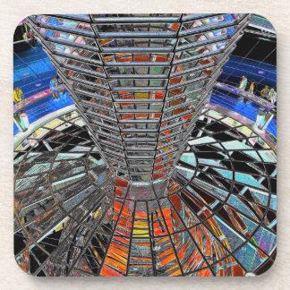 Reichstag / Bundestag,Interior Berlin,Artistic Beverage Coasters