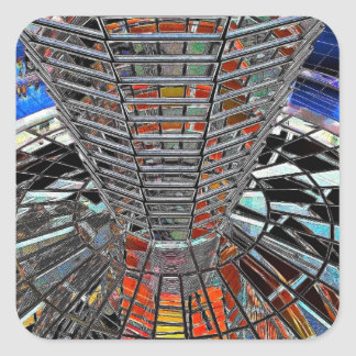Reichstag / Bundestag,Interior Berlin,Artistic Square Sticker