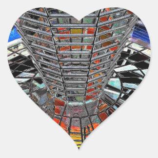 Reichstag / Bundestag,Interior Berlin,Artistic Heart Sticker