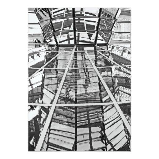 Reichstag / Bundestag, Interior, Berlin,B&W (1) 5x7 Paper Invitation Card
