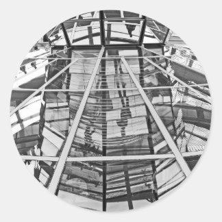 Reichstag / Bundestag, Interior, Berlin,B&W (1) Classic Round Sticker