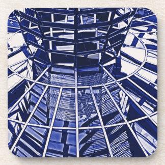 Reichstag / Bundestag, Interior, Berlin, Blue Tint Beverage Coaster