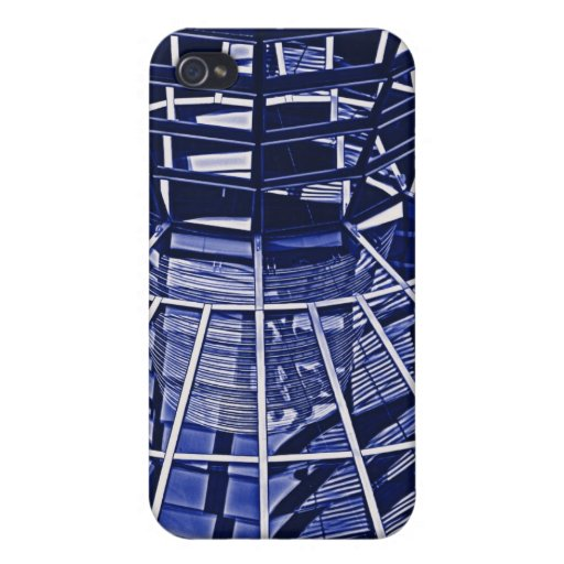 Reichstag / Bundestag, Interior, Berlin, Blue Tint iPhone 4/4S Covers